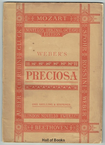 Image for Preciosa: An Opera. SATB Vocal and Piano Score
