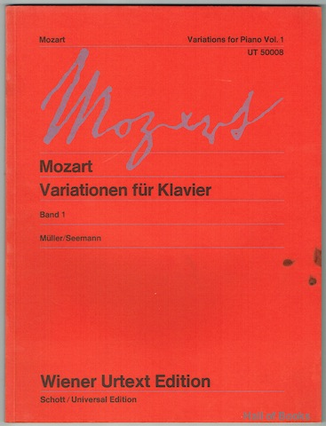 Image for Variationen Fur Klavier; Variations For Piano. Band 1/Volume 1. Wiener Urtext Edition