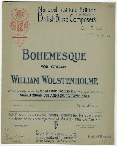 Image for Bohemesque For Organ (National Institute Edition Of The Works Of British Blind Composers)