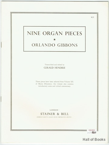 Image for Nine Organ Pieces