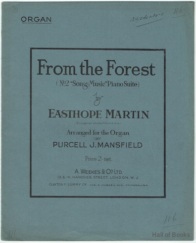 "Image for ""From The Forest (No.2 """"Song-Music"""" Piano Suite. Arranged For The Organ"""