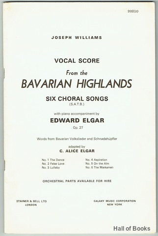 Image for Vocal Score From The Bavarian Highlands: Six Choral Songs (S.A.T.B.) Op. 27