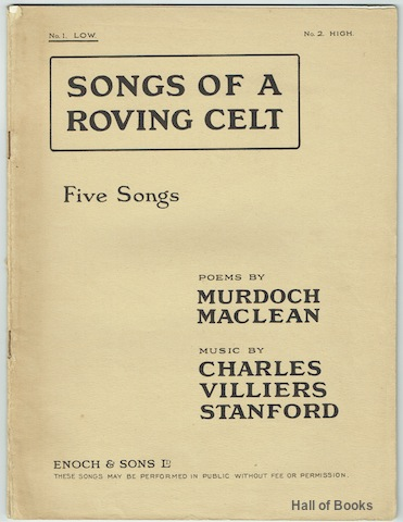 Image for Songs Of A Roving Celt Op. 157: Five Songs For Low Voice.