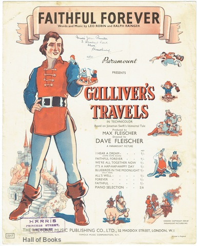 "Image for ""Faithful Forever: As Sung by Jessica Dragonette (Princess Glory) and Lanny Ross (Prince David) in Paramount's Full Length Technicolor Cartoon """"Gulliver's Travels."""""""