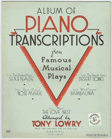 Image for Album Of Piano Transcriptions From Famous Musical Plays