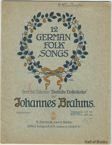 "Image for ""12 German Folk Songs from the Collection """"Deutsche Volkslieder."""" For High Voice"""
