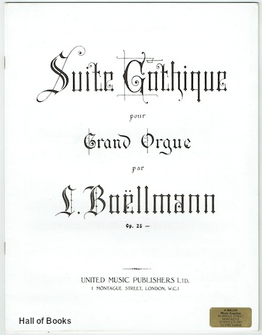 Image for Suite Gothique Pour Grand Orgue Op.25