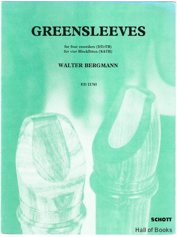 Image for Greensleeves for Four Recorders (DTrTB); fur Vier Blockfloten (SATB)