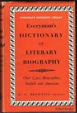 Image for Everyman's Dictionary Of Literary Biography: English & American