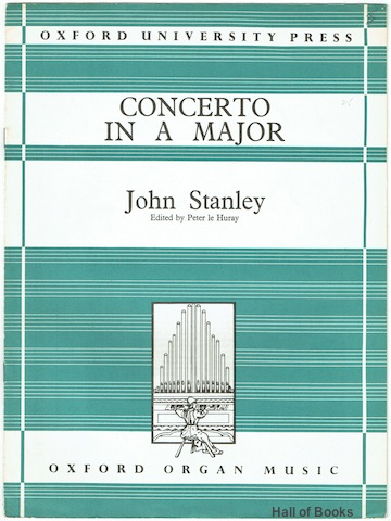 Image for Concerto In A Major (Qxford Organ Music)