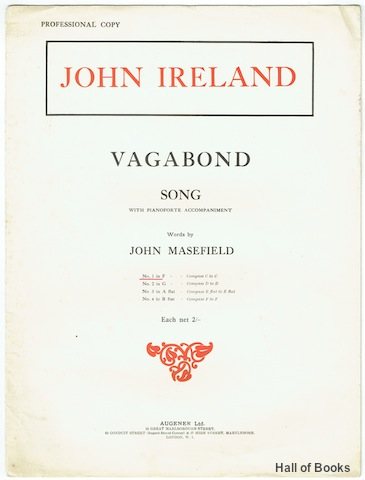Image for Vagabond Song With Pianoforte Accompaniment: No. 1 In F - Compass C to C