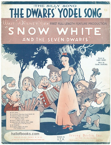 Image for The Dwarfs' Yodel Song (The Silly Song). From Walt Disney's 'Snow White and the Seven Dwarfs.'