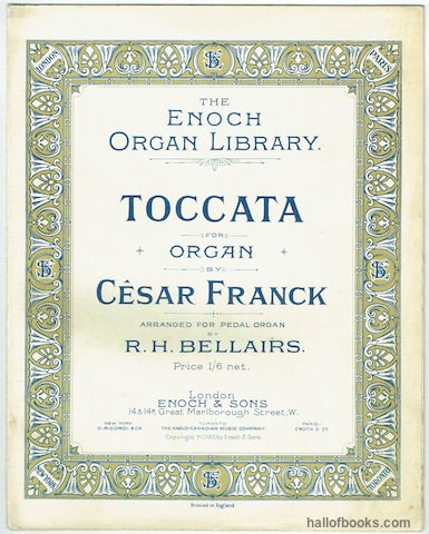Image for Toccata For Organ (The Enoch Organ Library)