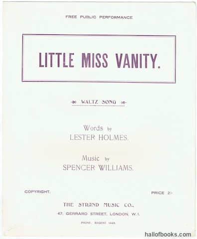 Image for Little Miss Vanity: Waltz Song