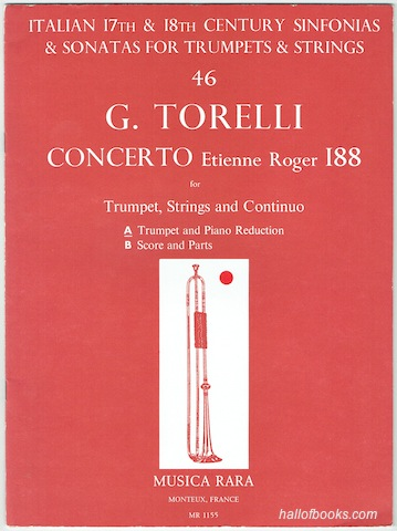 "Image for ""Concerto Etienne Roger 188 For Trumpet, Strings and Continuo: Trumpet and Piano Reduction"""