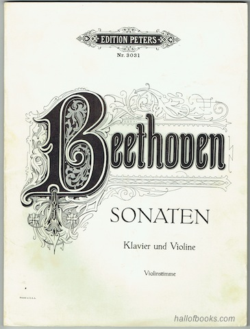 Image for Sonaten fur Klavier und Violine: Violinstimme (Edition Peters Nr. 3031)