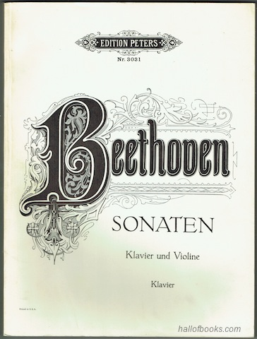 Image for Sonaten fur Pianoforte und Violine: Klavier. (Edition Peters Nr. 3031)