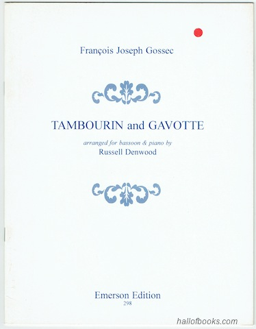 Image for Tambourin And Gavotte Arranged For Bassoon And Piano
