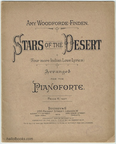 Image for Stars Of The Desert (Four More Indian Love Lyrics) Arranged For The Piano