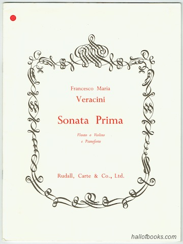 Image for Sonata Prima For Flute Or Violin And Piano