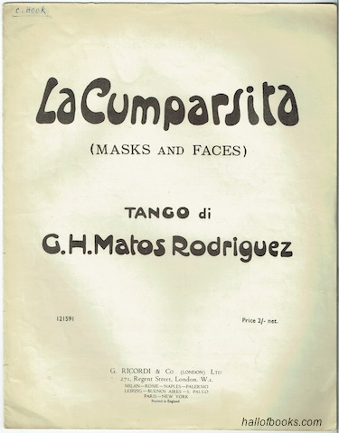 Image for La Cumparsita (Masks And Faces): Tango