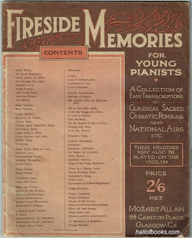 "Image for ""Fireside Memories For Young Pianists: A Collection Of Easy Transcriptions Of Classical, Sacred, Operatic, Popular And National Airs etc."""