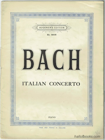 Image for Piano Works: Italian Concerto