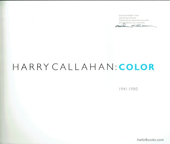 Image for Harry Callahan: Color 1941-1980