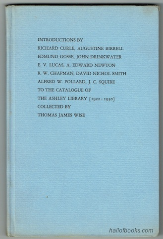 Image for Introductions To The Catalogue Of The Ashley Library (1922-1930) Collected By Thomas James Wise