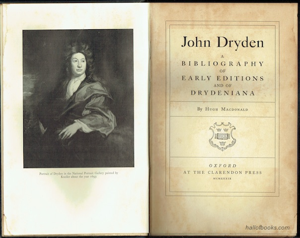 Image for John Dryden: A Bibliography Of Early Editions And Of Drydeniana