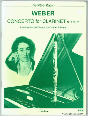 Image for Weber: Concerto No. 1 in F minor Op. 73. Arranged for B flat Clarinet and Piano