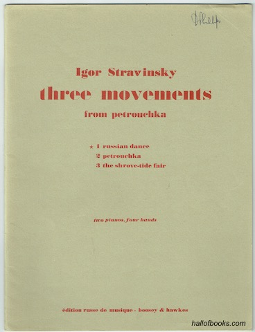 "Image for ""Three Movements From Petrouchka: 1. Russian Dance. Two Pianos, Four Hands"""