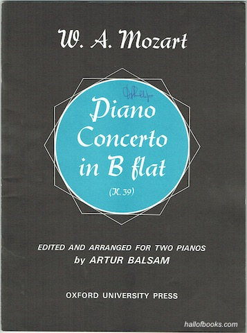 "Image for ""Piano Concerto in B Flat (K.39), Edited And Arranged For Two Pianos (Two Scores)"""