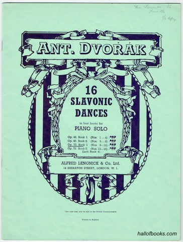 Image for 16 Slavonic Dances In Four Books For Piano Solo: Op. 72 Book I (Nos. 9-12)