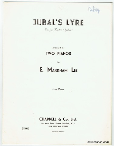 Image for Jubal's Lyre (Aria from Handel's 'Joshua') Arranged For Two Pianos (Two Scores)