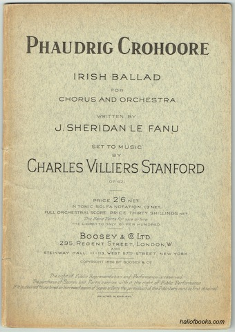 Image for Phaudrig Crohoore: Irish Ballad For Chorus And Orchestra. Vocal Score