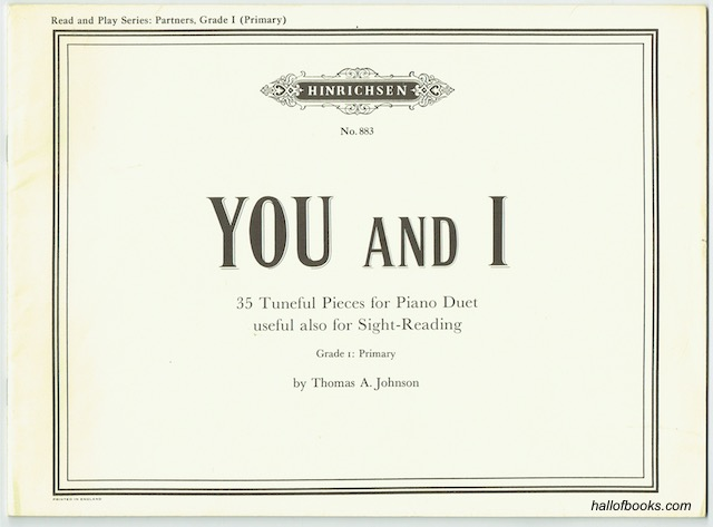 Image for You and I: 35 Tuneful Pieces For Piano Duet, Useful Also For Sight-Reading