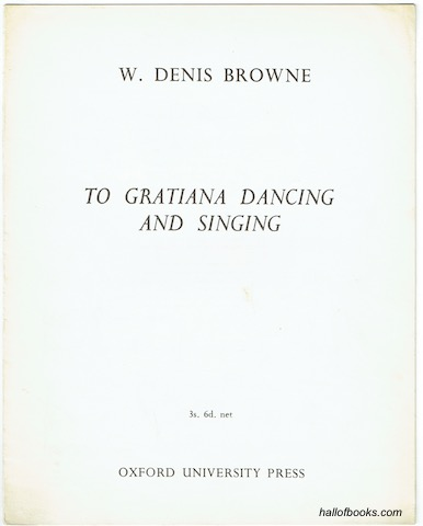Image for To Gratiania Dancing And Singing