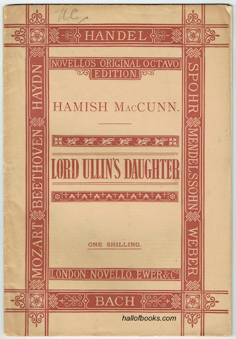 Image for Lord Ullin's Daughter: A Ballad For Chorus And Orchestra, Op. 4. Vocal Score