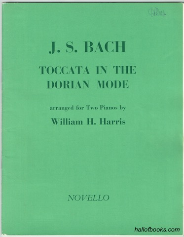 Image for Toccata In The Dorian Mode arranged for Two Pianos by William H. Harris