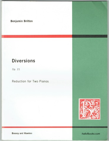 Image for Diversions For Piano (Left Hand) and Orchestra, Op.21: Reduction For Two Pianos