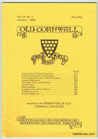 Image for Old Cornwall Vol. IX. No. 7 Autumn - 1982