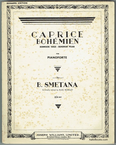 Image for Caprice Bohemien - Bohmische Tanze - Bohemian Polka: For Pianoforte (Berners Edition)