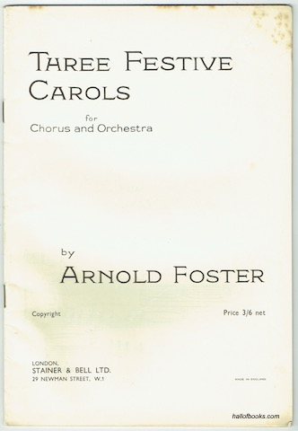 Image for Three Festive Carols For Chorus And Orchestra: Vocal Score