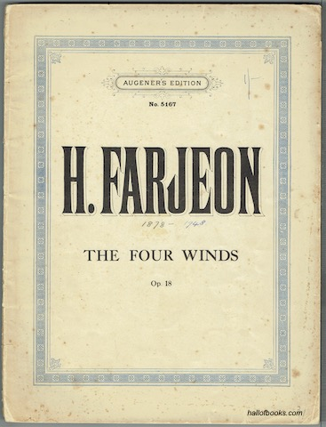 Image for The Four Winds Op. 18. Piano Solo (Augener's Edition No. 5167).