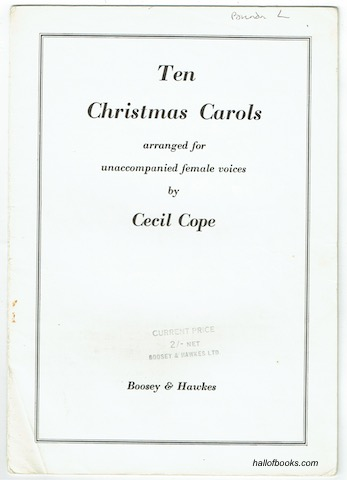 Image for Ten Christmas Carols Arranged For Unaccompanied Female Voices By Cecil Cope