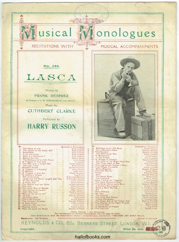 Image for Lasca: Performed by Harry Russon (Musical Monologues No. 145)