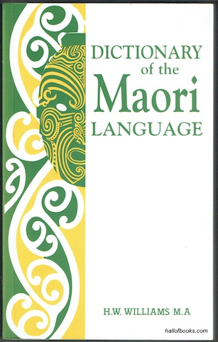 Image for Dictionary of the Maori Language