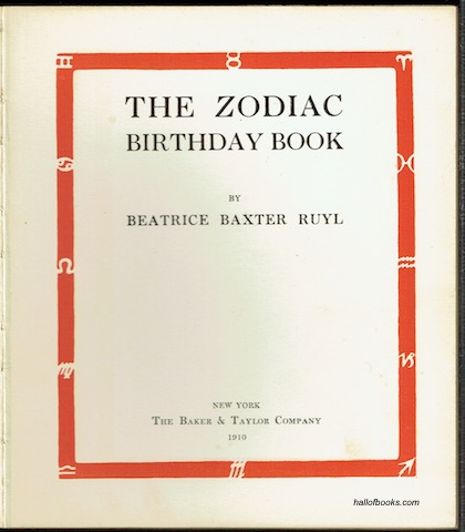 Image for The Zodiac Birthday Book