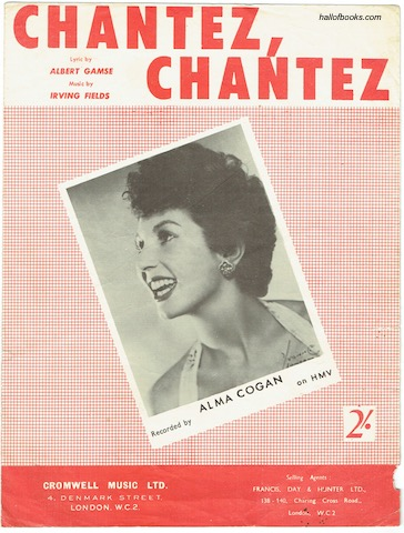 Image for Chantez, Chantez: Recorded by Alma Cogan